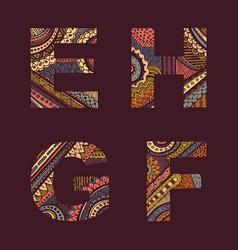 letters set e-h vector image