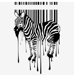 abstract zebra silhouette vector image