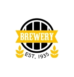 Brewery Logo Design Template vector image