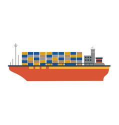 cargo ship icon image vector image vector image