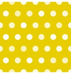 Dotted texture gold and white circles vector image vector image