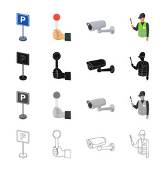 equipment direction rules and other web icon in vector image