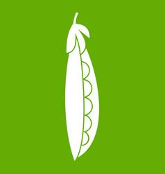 fresh peas icon green vector image vector image