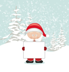 Santa Holding an Empty Sign vector image