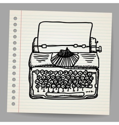 Sketchy of a typewriter machine vector image vector image