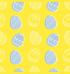 bright seamless pattern with easter eggs vector image vector image