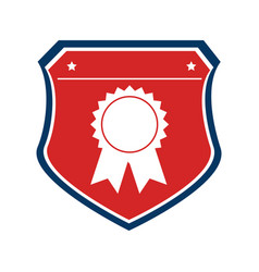 color shield with medal prize vector image
