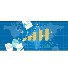 economic gdp growth domestic product vector image