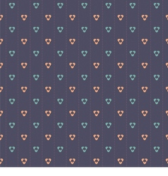 Pink and blue graphic on navy blue background vector