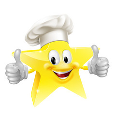 star chef mascot vector image vector image