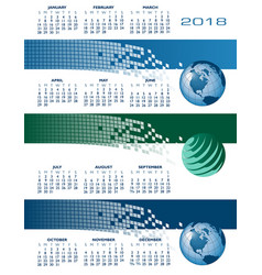 2018 calendar web banners vector