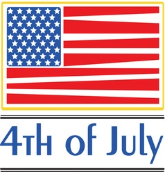 4th july vector image