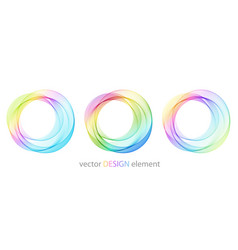 Abstract shiny color spectrum round design element vector