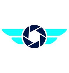 aero photography logo design template vector image