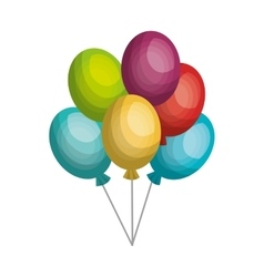 balloons air party celebration isolated icon vector image