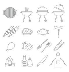 barbecue grill icon vector image