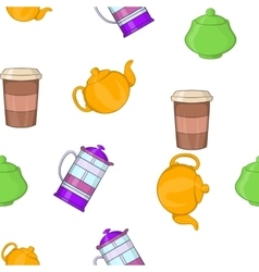 Beverage pattern cartoon style vector image