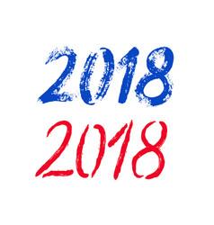 brush 2018 happy new year banner vector image