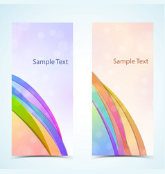card banners setrd vector image