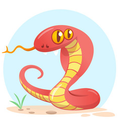 Cartoon red snake vector