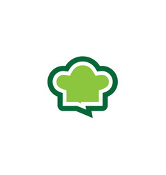 chef hat chatting logo vector image