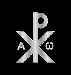 Chrismon sign icon on black vector