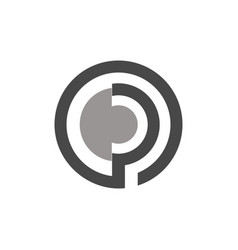 circle letter p logo vector image