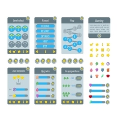 complete menu graphical user interface gui vector image