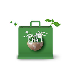 Concept ecology and environment vector