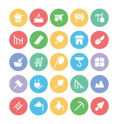 Construction Icons 10 vector image