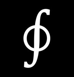 contour integral icon vector image