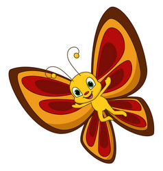Cute butterfly cartoon vector