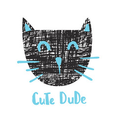 cute dude cat vector image