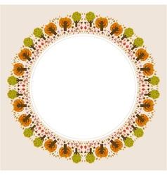 Decorative circular autumn ornament vector