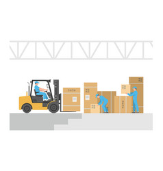 delivery service warehouse logistic vector image