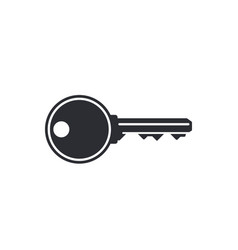Door key simple black icon isolated on white vector