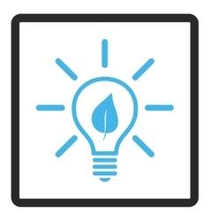 Eco Light Bulb Framed Icon vector