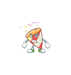 Exploding confetti cartoon character style vector