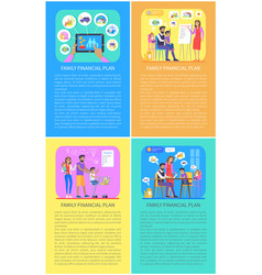 Family financial planners vector