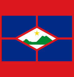 flag of sint eustatius in official rate and colors vector image