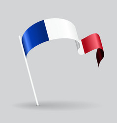 French wavy flag vector