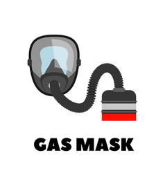 Gas mask icon on white vector