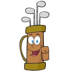 Golf Bag Cartoon Character vector image