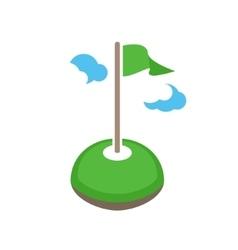 golf logo template club logo design vector image
