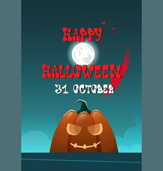 happy halloween banner pumpkins traditional vector image