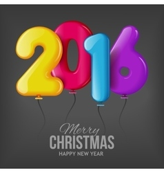 Happy new 2016 year Realistic 3D balls vector