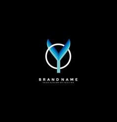 Letter y colorful logo design vector