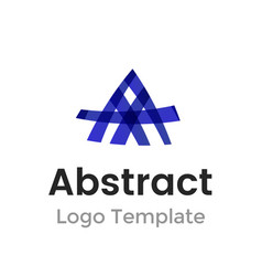 lines letter a logo design template abstract vector image
