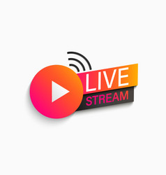 Live stream symbol icon vector