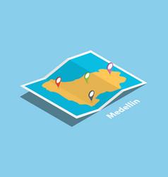 Medellin colombia municipality explore maps with vector